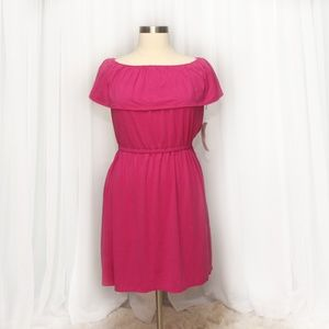 NY Collection Pink Sun Dress Plus Size